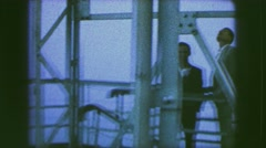 1963: guys watching over lighthouse GERMANY Stock Footage