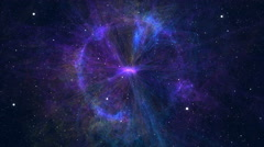 Approximation to the fantastic and colorful nebula Stock Footage