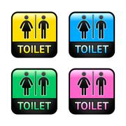 Restroom symbols Stock Illustration