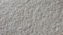 Rotating dry uncooked rice. Spinning closeup seeds Arkistovideo