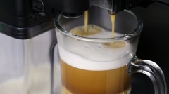 Process of making coffee in espresso machine Stock Footage