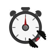 Chronometer and dumbbell  icon Stock Illustration
