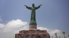Statue of Jesus Christ at Isla Blanco Park on South Padre Island Stock Footage