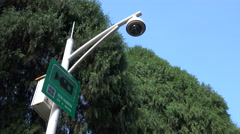 Surveillance camera in operation in a park in Shenzhen, China Stock Footage