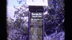 1965: an inscription is seen GERMANY Stock Footage