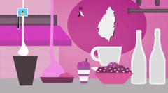Saint Lucia - Vector Menu - Restaurant - Food and Drinks - pink Stock Footage