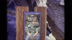 1965: a display of the tomb of jesus, showing visitors the reality of it all. Stock Footage