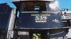 Grand Canyon Railway Historic Locomotive Train Pan- Williams Arizona Stock Footage