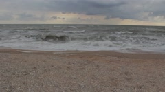 The squally sea with gloomy sky. Stock Footage