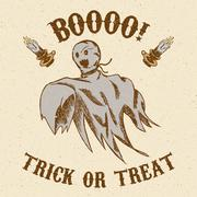 Halloween hand drawn ghost Piirros