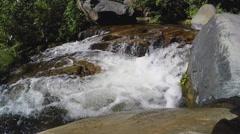 Clear Water Of Oak Creek Flowing In Narrow Channel Zoom- Sedona AZ Stock Footage