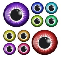 Eye, pupil, iris, vector symbol icon design. Beautiful illustration isolated  Stock Illustration