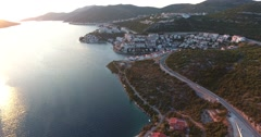 Aerial footage of the city Neum in Bosnia-Herzegovina Stock Footage
