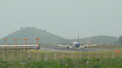 Azur Air boeing 767 landing in Phuket Stock Footage