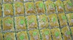 Turkish Ramadan Dessert Baklava Stock Footage