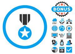 Army Award Flat Vector Icon with Bonus Stock Illustration