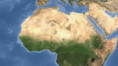 Sahel area outlined and glowed. Satellite Stock Footage
