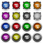 Align to right glossy button set Stock Illustration