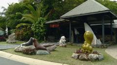 Sculptur Artwork on Display on Hamilton, Island, Australia Stock Footage