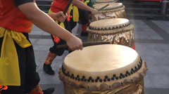 Chinese traditional drum performance Stock Footage