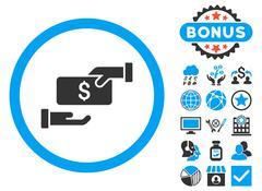 Bribe Flat Vector Icon with Bonus Stock Illustration