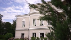 Detail of a classic Russian 18th-century manor house Stock Footage