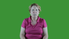 Angry emotion green screen Stock Footage