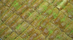 Turkish Ramadan Dessert Burma Baklava Stock Footage