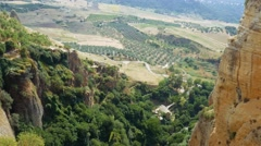 Mountain villages in Andalusia near Ronda city Stock Footage
