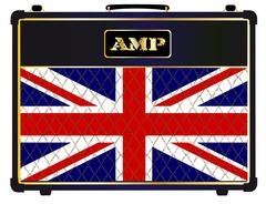 Union Jack Guitar Amplifier Stock Illustration