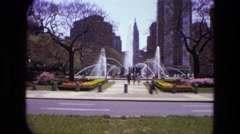 1972: a wonderful day to hangout with my friends at the park enjoying ourselves Stock Footage