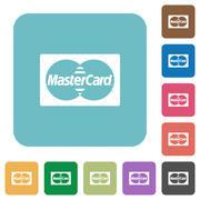 Flat bank card icons Stock Illustration