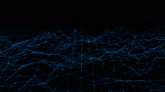 Abstract Futuristic Geometric Line with Dot Background Stock Footage