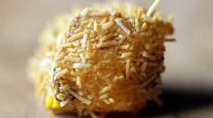 Turkish delight with pistachio rotating macro shot Stock Footage