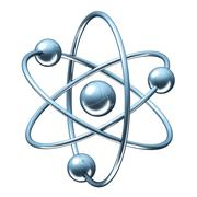 Orbital model of atom - 3D illustration Stock Illustration