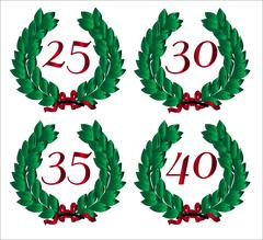 Number Isolated Wreaths Stock Illustration