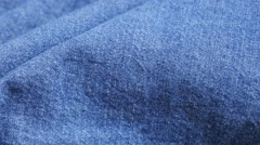 Blue high quality denim details and texture close-up  tilting 4K 2160p 30fps Stock Footage