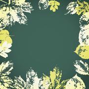 Vector autumn leaves frame Stock Illustration