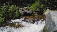 Clear Water Of Oak Creek Flowing In Narrow Channel- Sedona Arizona Stock Footage