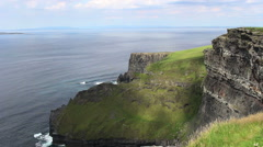 Cliffs of Moher in Ireland Looking Down into the Ocean and Cliff  Stock Footage