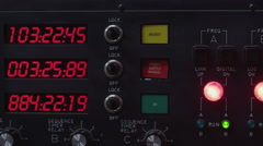Control buttons on the machine Stock Footage