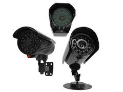 Surveillance cameras - covering all angles Stock Illustration