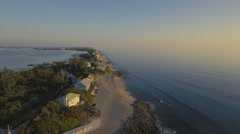 Beautiful Aerial View of Florida Intercoastal at Dawn Stock Footage