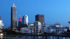 4K UltraHD Timelapse Night Falls in Cleveland, Ohio Stock Footage