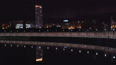 The beautiful cityscape in Belfast city Stock Footage