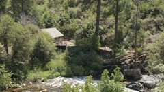 A House On The Bank Of The South Fork American River  Stock Footage