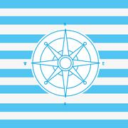 Compass nautical emblem image Stock Illustration