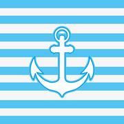 Anchor emblem image Stock Illustration