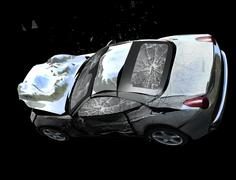 Ferrari California Crash Stock Illustration