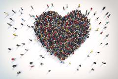 3D Rendering of love Stock Illustration